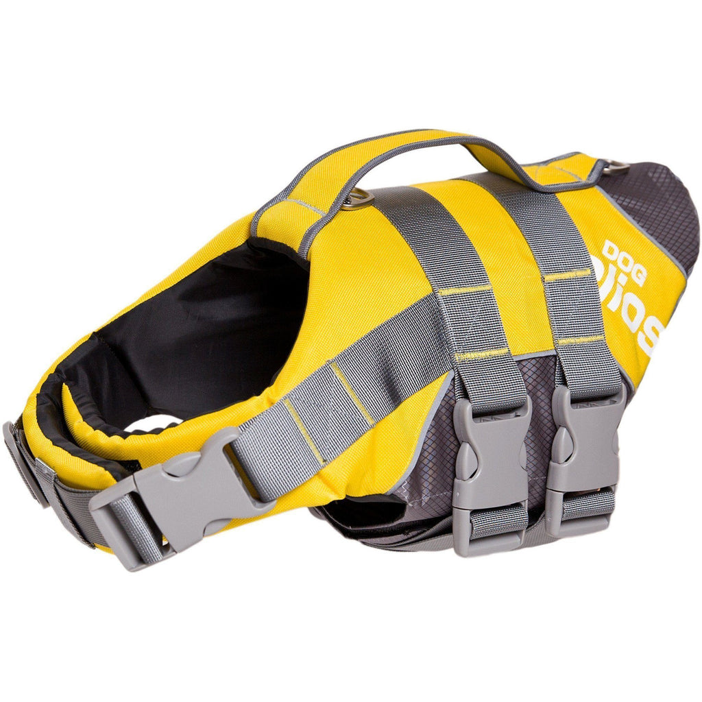 Dog Helios ® 'Splash-Explore' Outdoor Performance 3M Reflective and Adjustable Buoyant Safety Floating Pet Dog Life Jacket Vest Harness Small Yellow