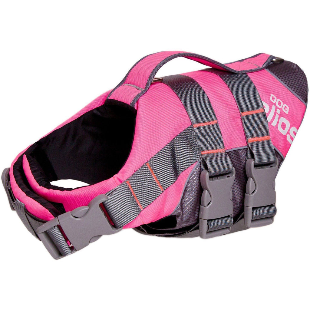Dog Helios ® 'Splash-Explore' Outdoor Performance 3M Reflective and Adjustable Buoyant Safety Floating Pet Dog Life Jacket Vest Harness Small Pink