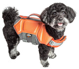 Dog Helios ® 'Tidal Guard' Multi-Point Strategically-Stitched Reflective Pet Dog Life Jacket Vest Small Orange