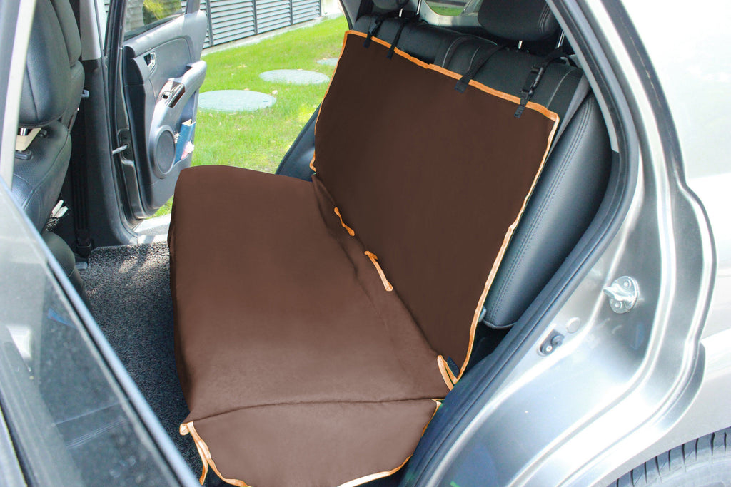 Pet Life ® 'Open Road' Full Back Seat Safety Child Pet Cat Dog Car Seat Carseat Cover Protector Dark Brown