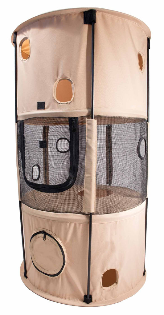Pet Life ® 'Climber-Tree' Play-Active Travel Collapsible Lightweight Kitty Cat Tree House Lounger