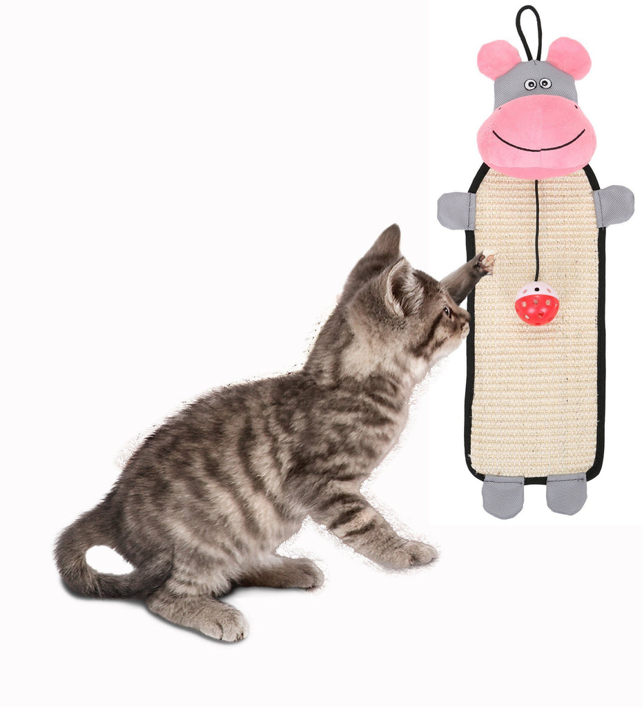 Pet Life ® 'Paw-Pleasant' Hanging Sisal & Jute Carpet Kitty Cat Scratcher with Toy