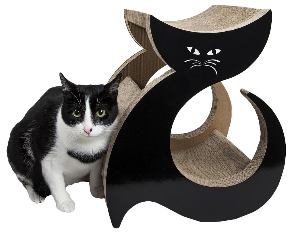 Pet Life ® 'Purresque' Modern Fashion Designer Premium Quality Kitty Cat Scratcher Lounger Lounge with Catnip