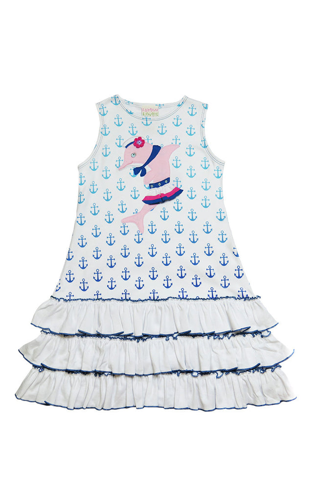 Lemon Loves Lime Dolphin Dress 3T