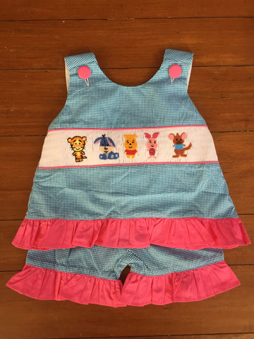 Winnie the Pooh Inspired Girl's Short Set