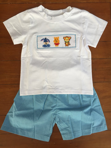 Winnie the Pooh Inspired Boy's Shorts Set 3m