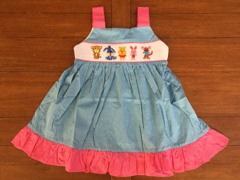 Winnie the Pooh Inspired Smocked Dress