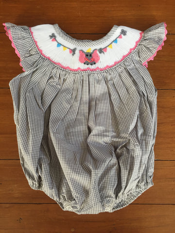 Dumbo Inspired Smocked Girl's Bubble 6 month