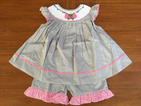 Dumbo Inspired Girl's Shorts Set