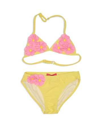 Kate Mack Radiant Roses 2-Piece Swimsuit, Yellow