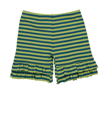 Persnickety Forget Me Not Marlie Shorties Green Stripe - Size 7