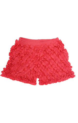 Lemon Loves Lime Ruffle Shorts Sugar Coral