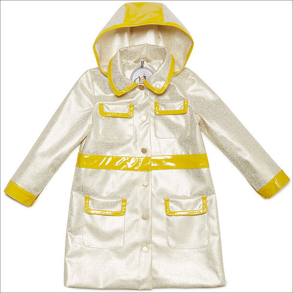 Oil & Water City Coat in Bronzed White/Chartreuse Size 14
