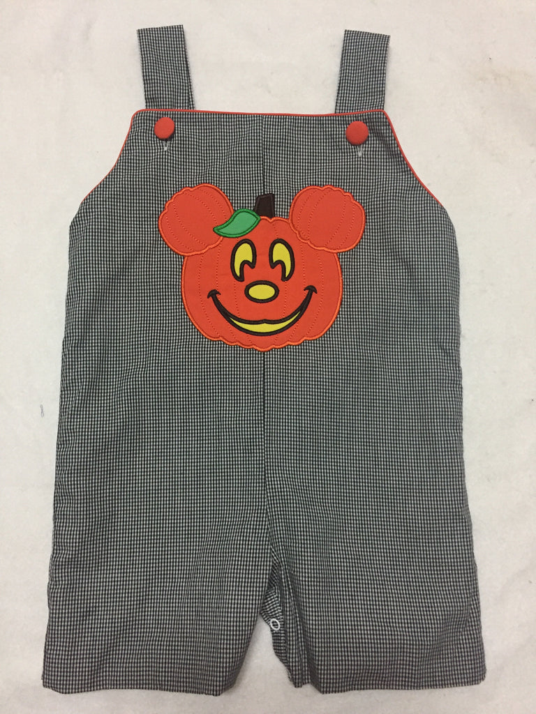 Mickey Inspired Halloween Appliqued Jon Jon