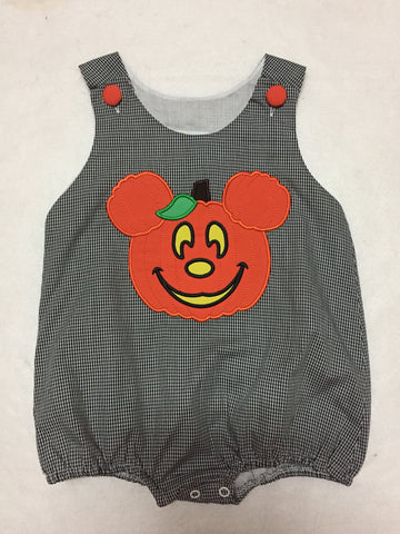 *Mickey Inspired Halloween Boy's Appliqued Bubble