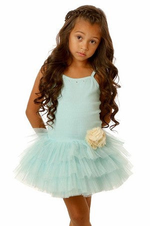 Ooh! La, La Couture Blue Ice Tutu Flower Dress