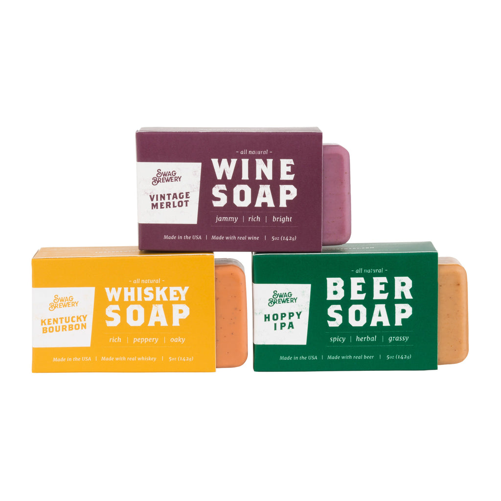 Boxed Soap Mixed Case (Beer/Wine/Whiskey - 24 Pieces)