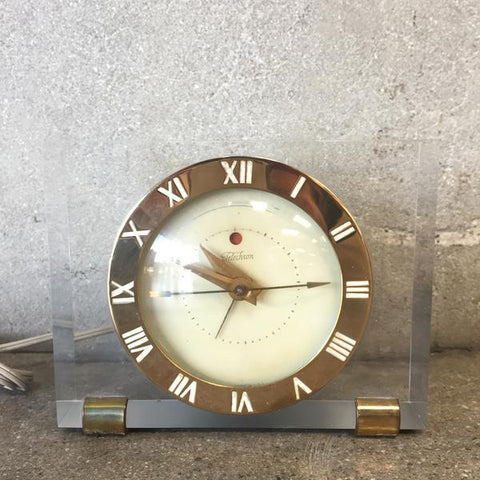 1950's Lucite Clock by Telechron