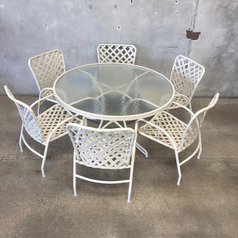 We Currently Have This Great Vintage Brown Jordan Tamiami Patio Dinning Set  Available, Round Table With Six Chairs.