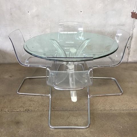 Lucite Dining Set at Urban Americana