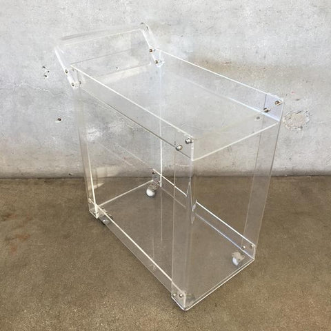 Mid Century Lucite Bar Cart at Urban Americana