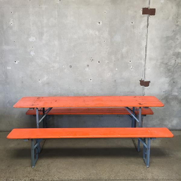Vintage outside picnic bench Garden Set at Urban Americana
