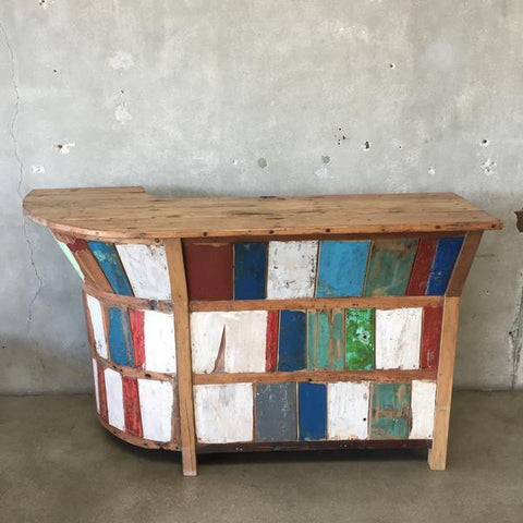 Reclaimed Teak Indoor Outdoor Bar Urban Americana