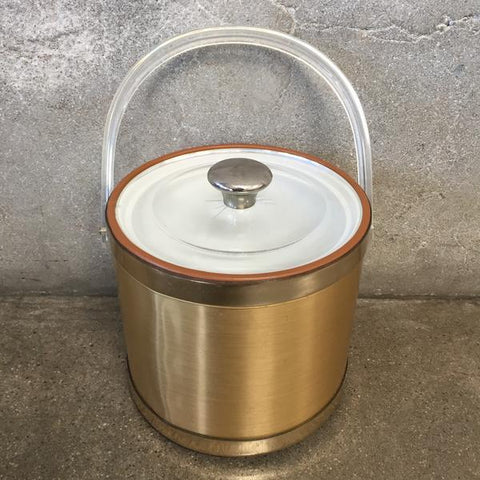 Vintage Gold & Lucite Ice Bucket at Urban Americana