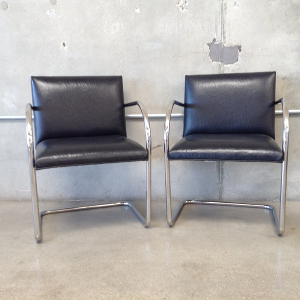 Pair of Royal Chrome and Black Chairs