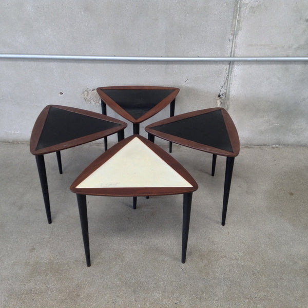 Set of 4 Triangle Stacking Tables