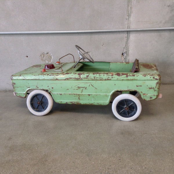 Vintage Green Childs Toy Car