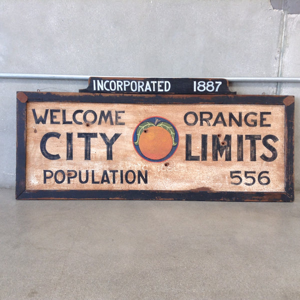 City of Orange Sign