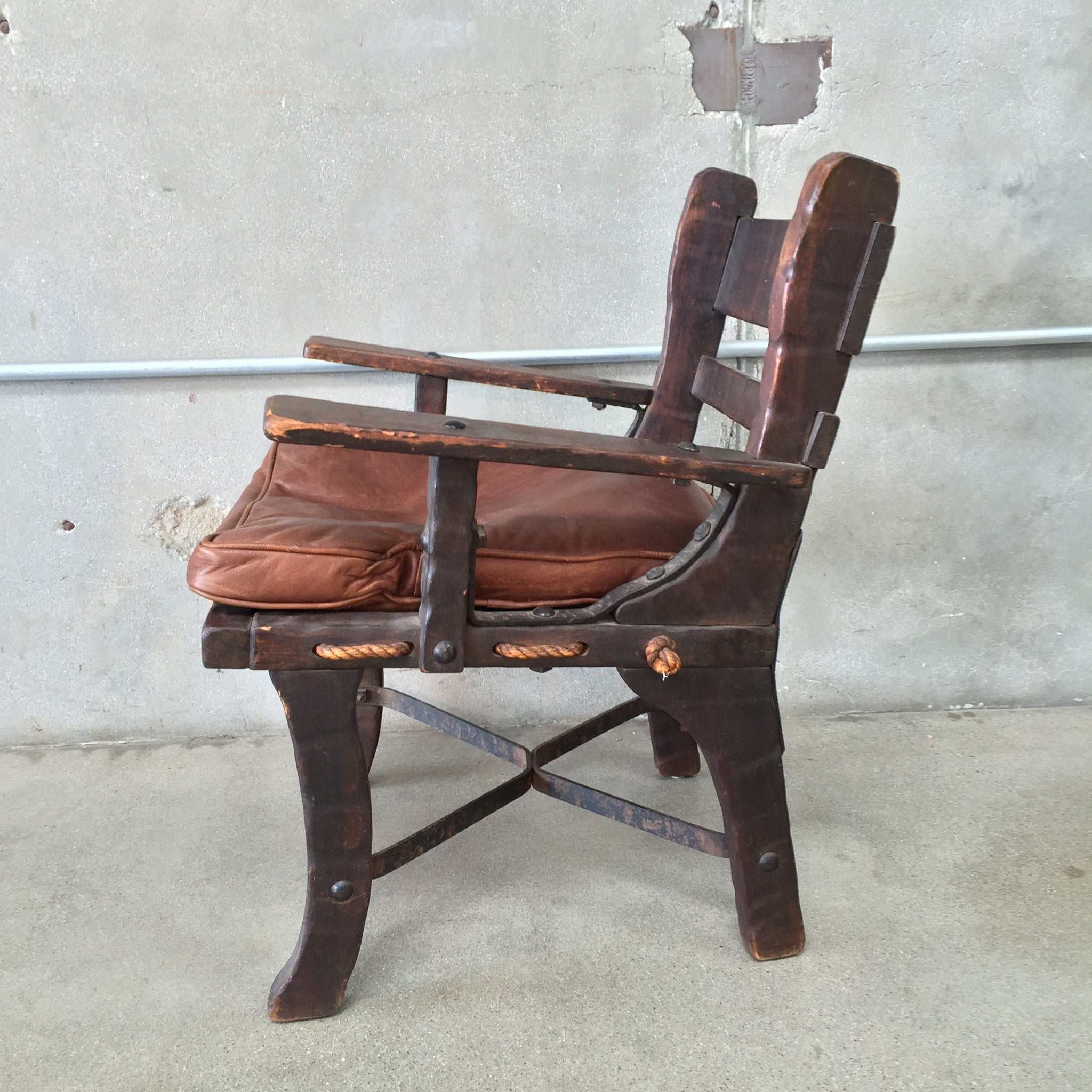 ... Monterey Side Chair With Rope Bottom And Iron Stretchers ...