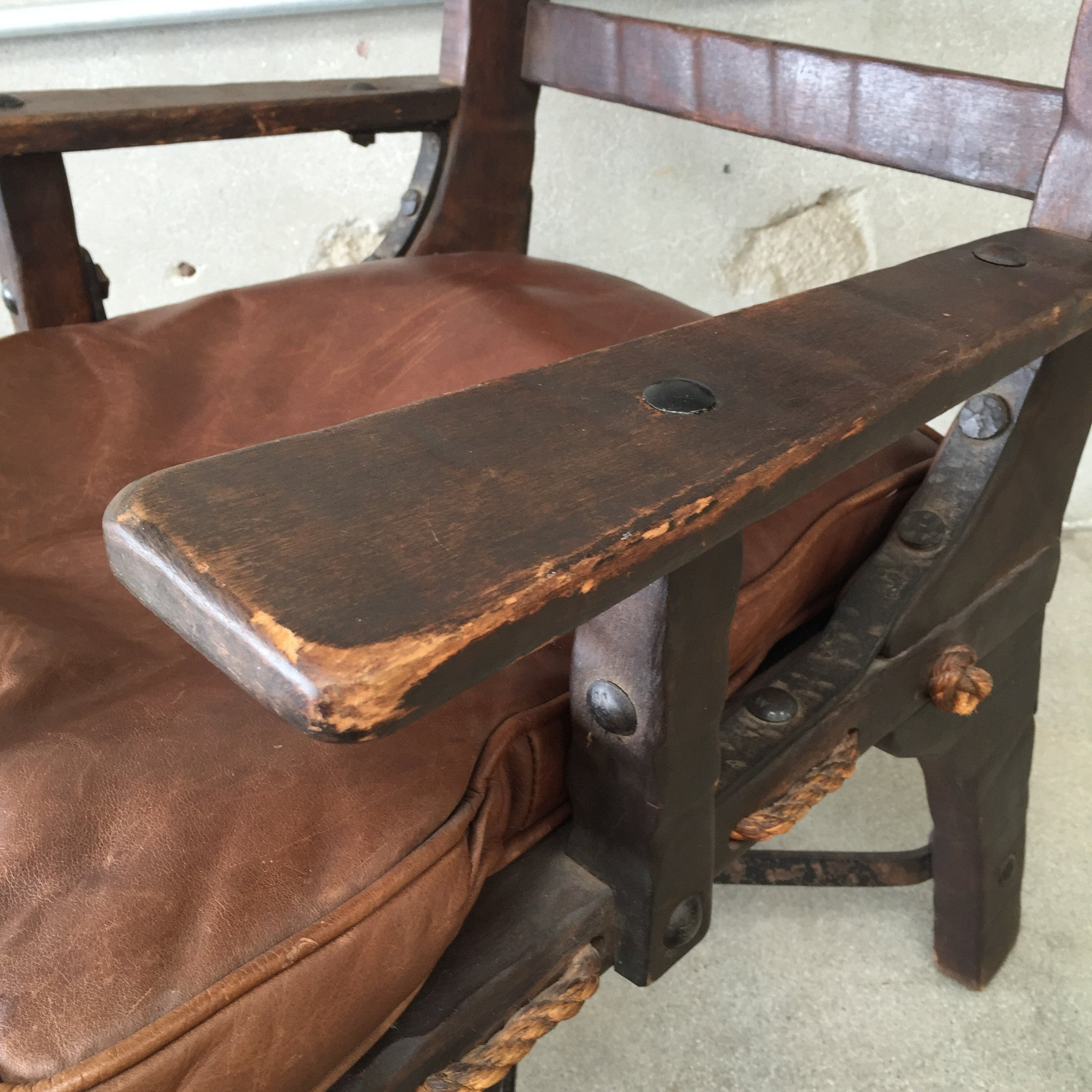 Delightful ... Monterey Side Chair With Rope Bottom And Iron Stretchers