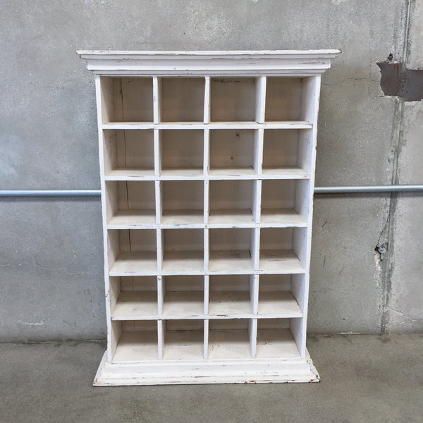 White Cubbies / Vintage Mail Sorter