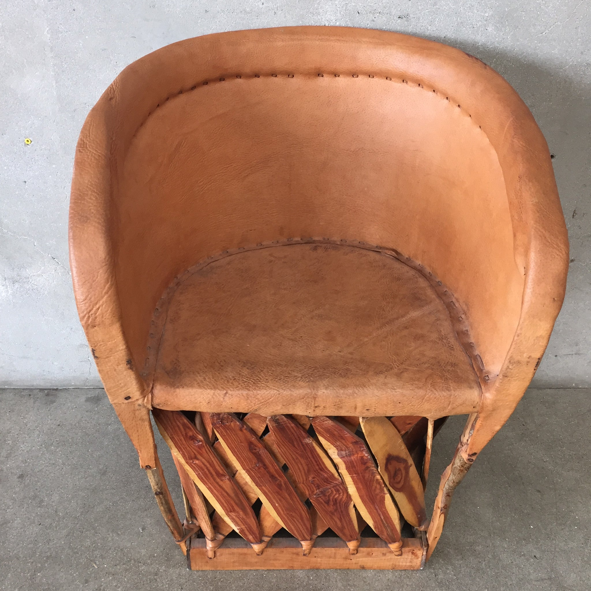 Mexican Equipale Pigskin Leather Barrel Chair – UrbanAmericana