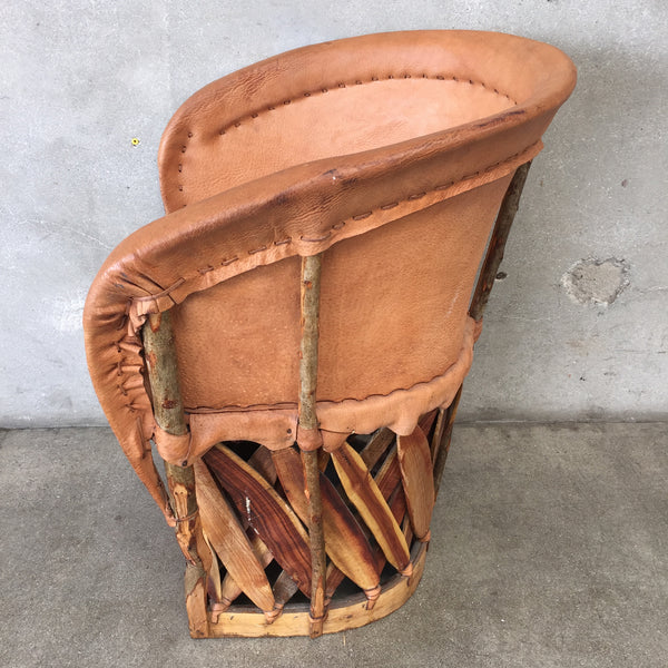Mexican Equipale Pigskin Leather Barrel Chair Urbanamericana