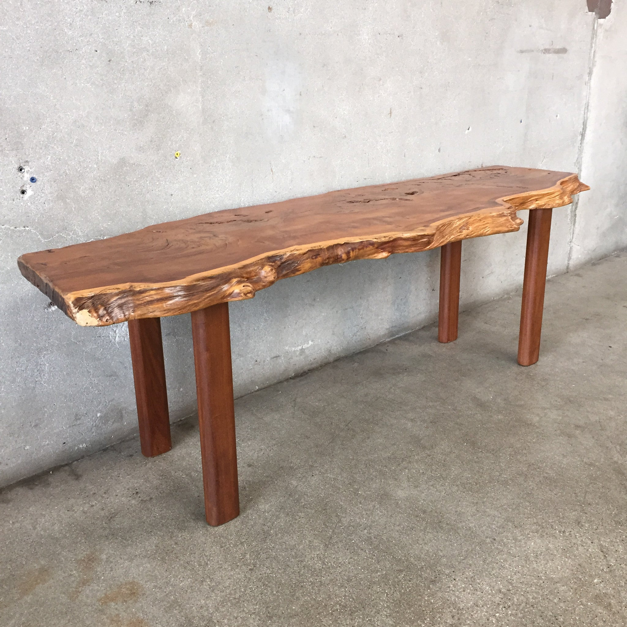Yew Wood Live Edge Slab Coffee Table – UrbanAmericana