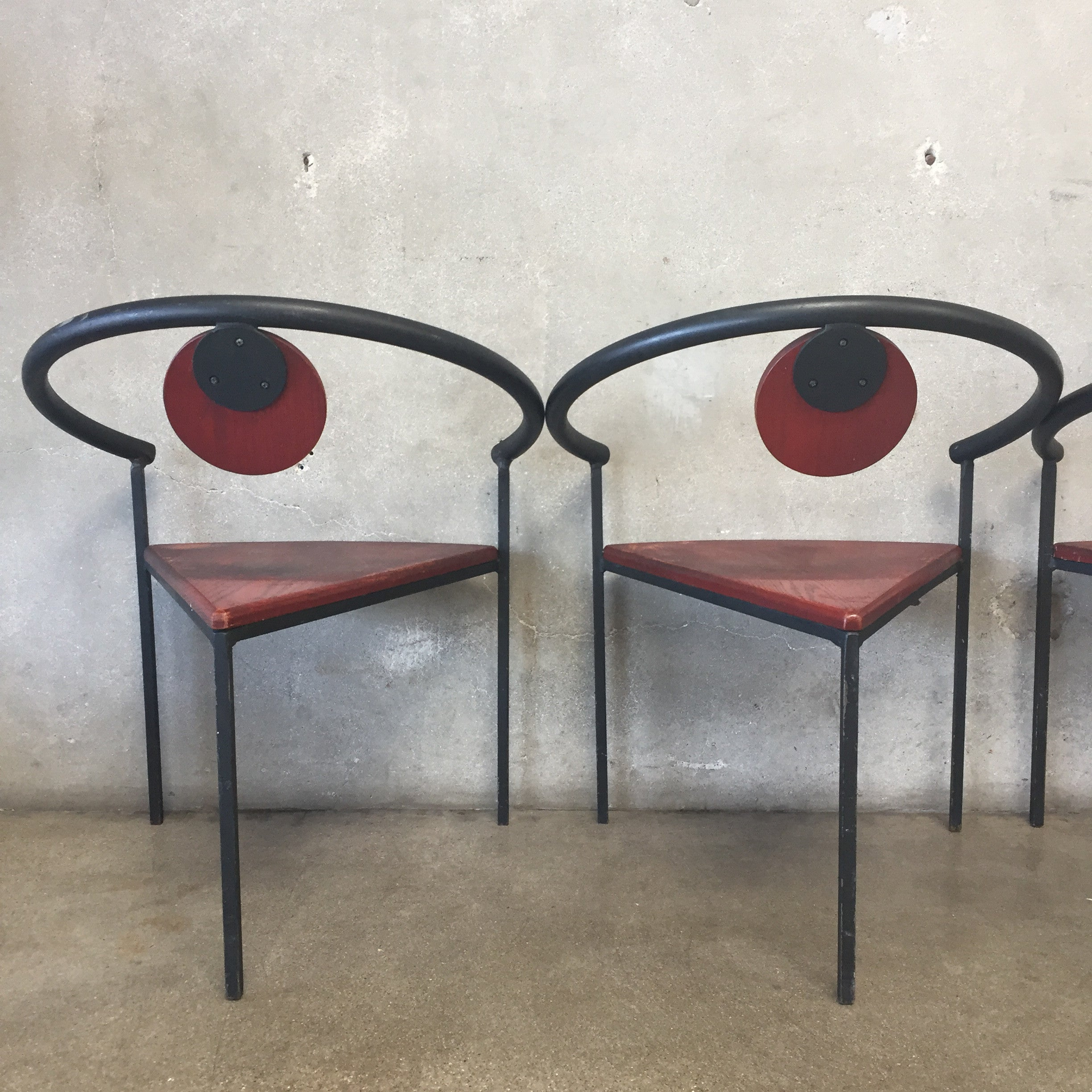 ... Set Of Four Memphis Style Arm Chairs By Michele De Lucci ...