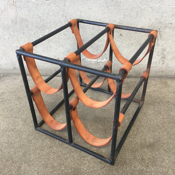 Mid Century Arthur Umanoff Four Bottle Wine Rack