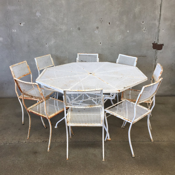 White Vintage Patio Table U0026 Chairs