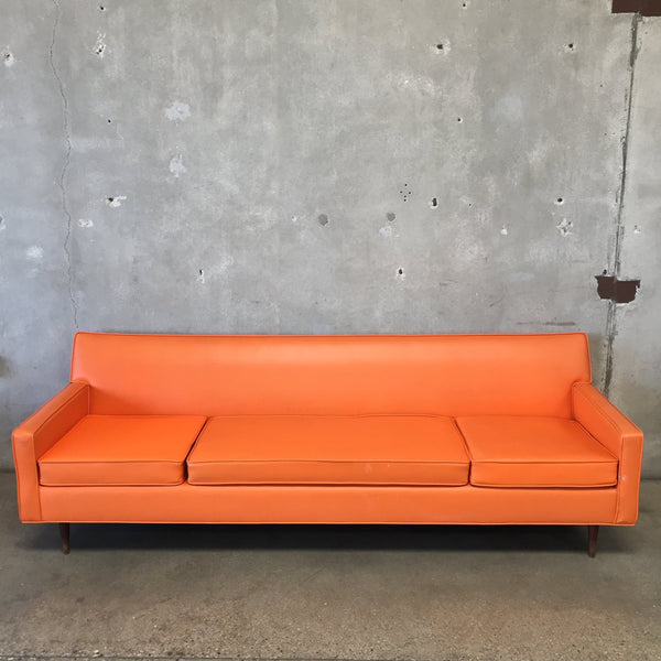 Orange Mid Century Modern Sofa