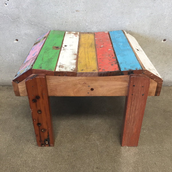 Reclaimed Teak Wood Side Table