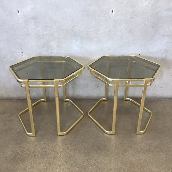 1970's Morex Furniture Glass End Tables