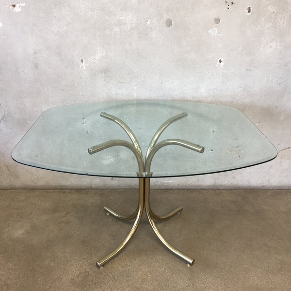 1970's Morex Furniture Glass Dining Table