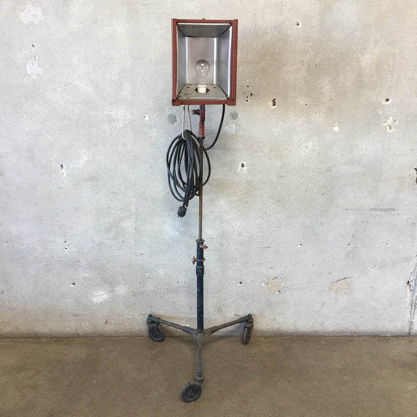 Vintage Industrial Movie Stage Floor Lamp