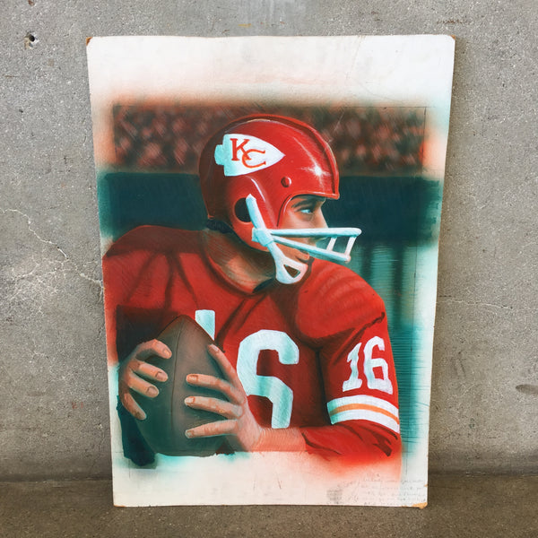 Vintage Painting of  Kansas City Chiefs Quarter Back,  Player # 16
