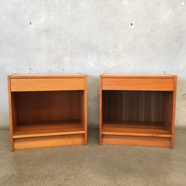 Pair of Mid Century Teak Wood Danish Night Stands