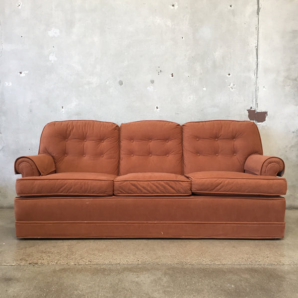 Mid Century Modern Burnt Orange Sofa