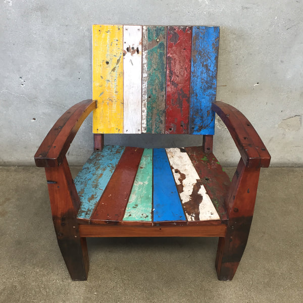Reclaimed Wood Teak Chair